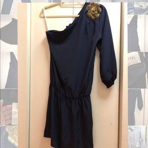 Karina Grimaldi navy blue silk romper size M